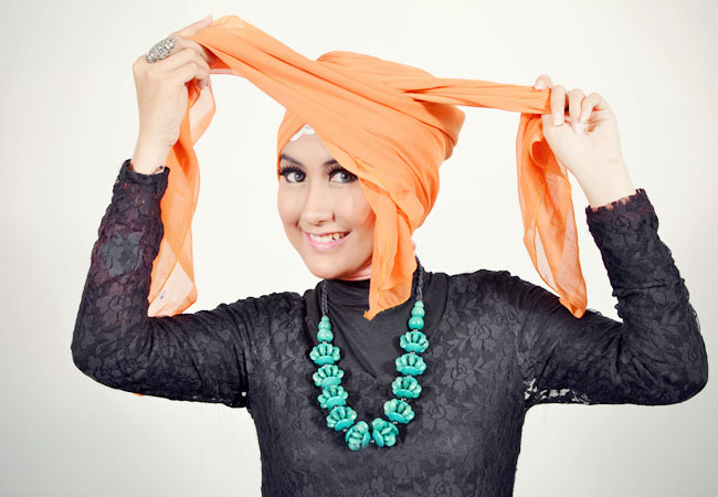 Step n°3: Tutoriel Hijab Style De Turban