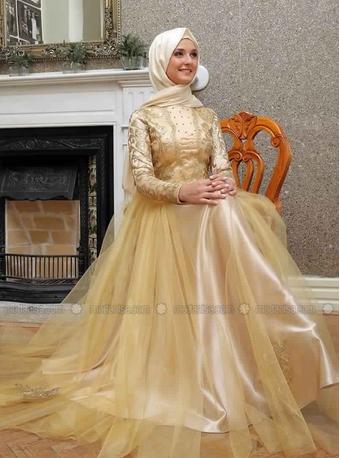 Robe De Soirée Princesse Sublime Pour Hijab  2
