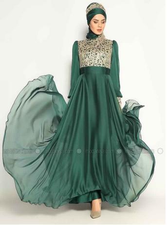 Robe De Soirée Princesse Sublime Pour Hijab  4
