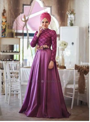 Robe De Soirée Princesse Sublime Pour Hijab  5