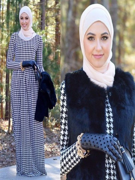 Robe femme voilee hiver