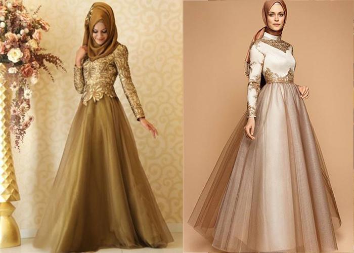 Robe longue soiree hijab