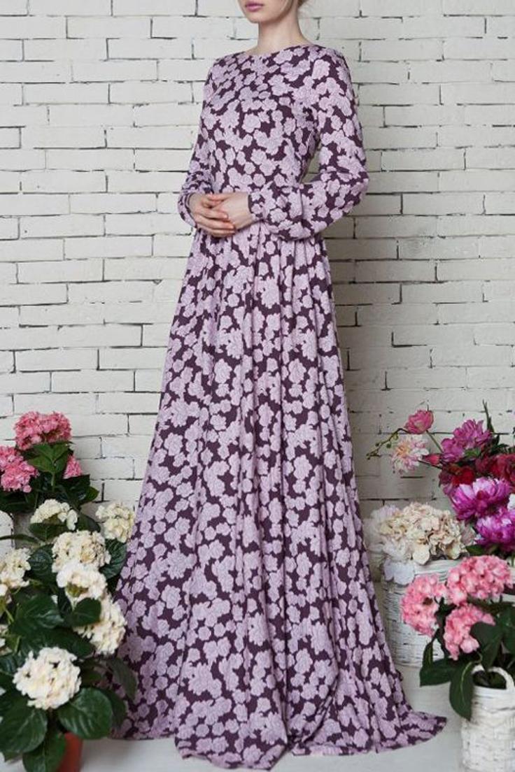 Modele de robe pour femme voilee