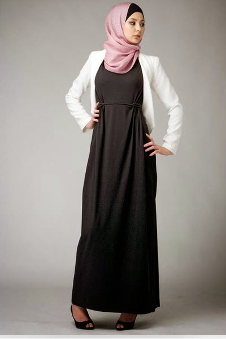 Robe en jean femme voilee