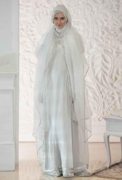 robe de fiancaille femme voilée2