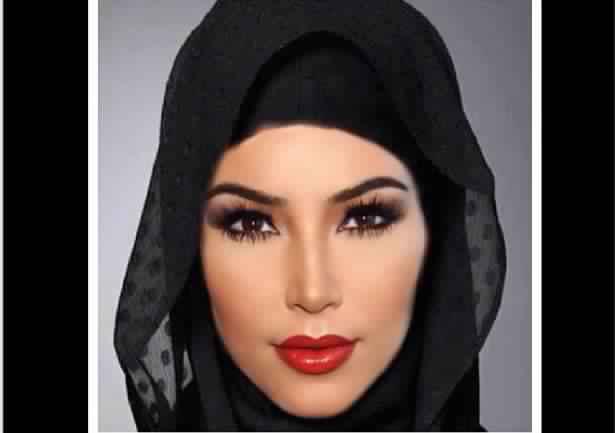 Kim Kardashian Voilée4