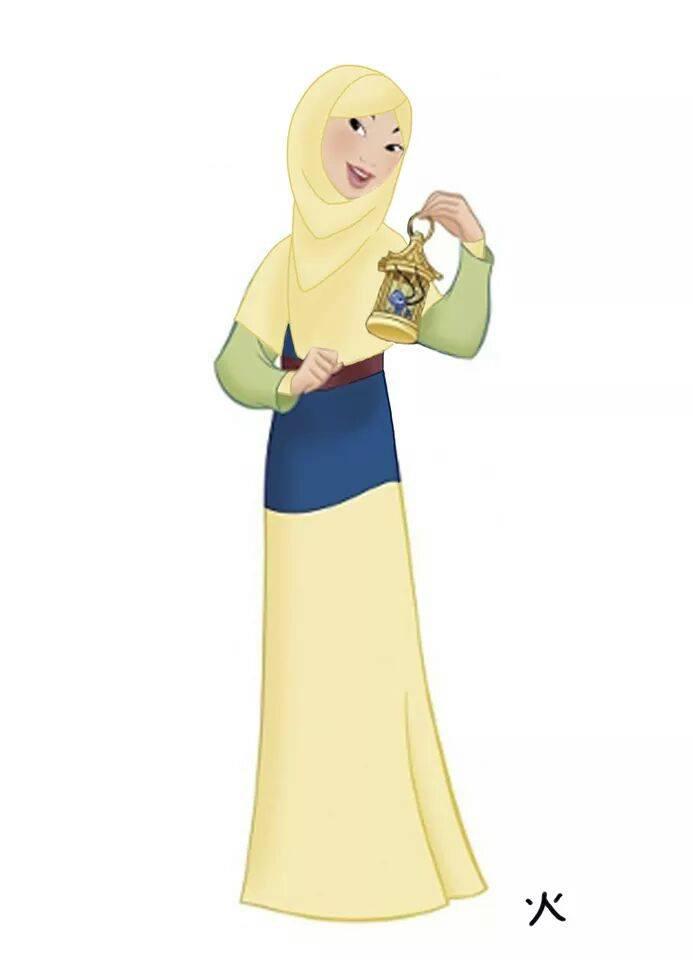 Les Princesses Disney Voilées Crée le Buzz4
