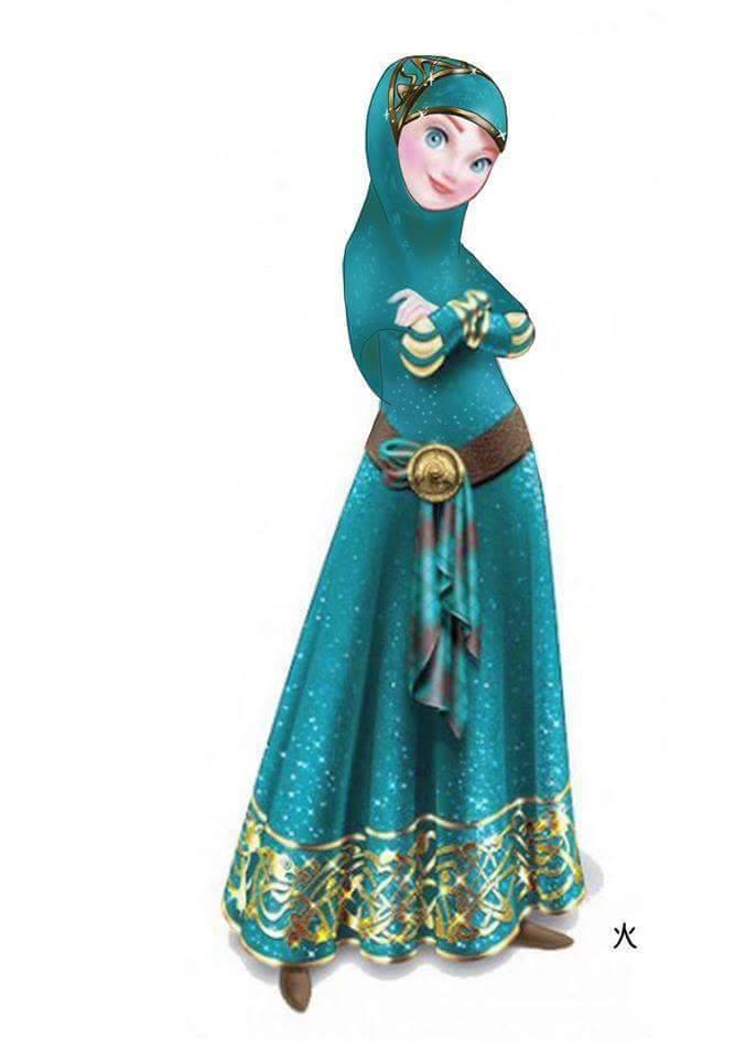Les Princesses Disney Voilées Crée le Buzz8