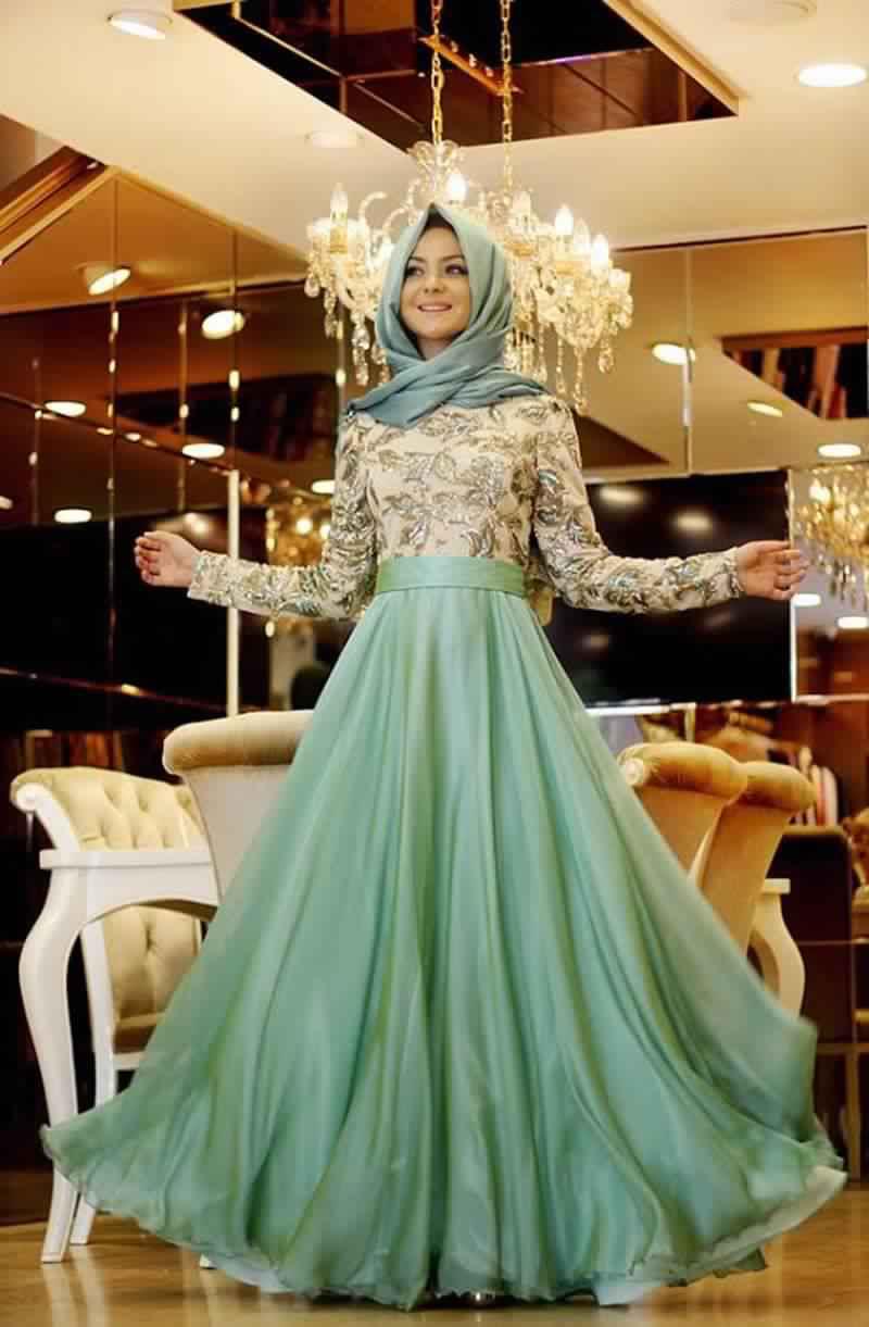 Robes Femmes Voilées De Soirée 1
