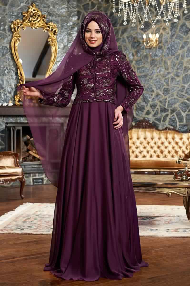 Robes Femmes Voilées De Soirée 14