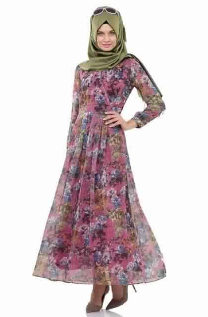 Robes Longues Imprimées Fleurs5