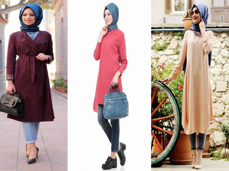 Robe longue et hijab