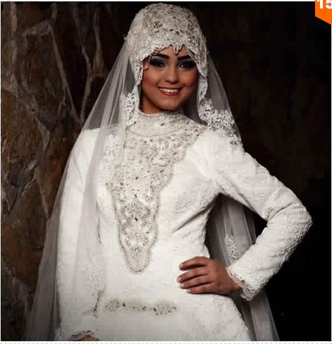 robe de mariage pour femme voil e prix raisonnable astuces hijab. Black Bedroom Furniture Sets. Home Design Ideas