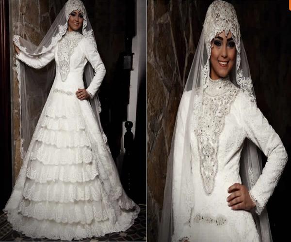 Robe de mari e simple pour femme voil e id es et d for Katie peut prix de robe de mariage