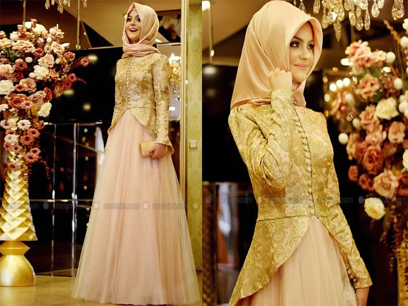 Robe de soiree hijab pas cher