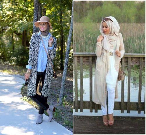 Populaire Apprendre À Harmoniser Votre Cardigan Long Avec La Tenue Hijab  LF06