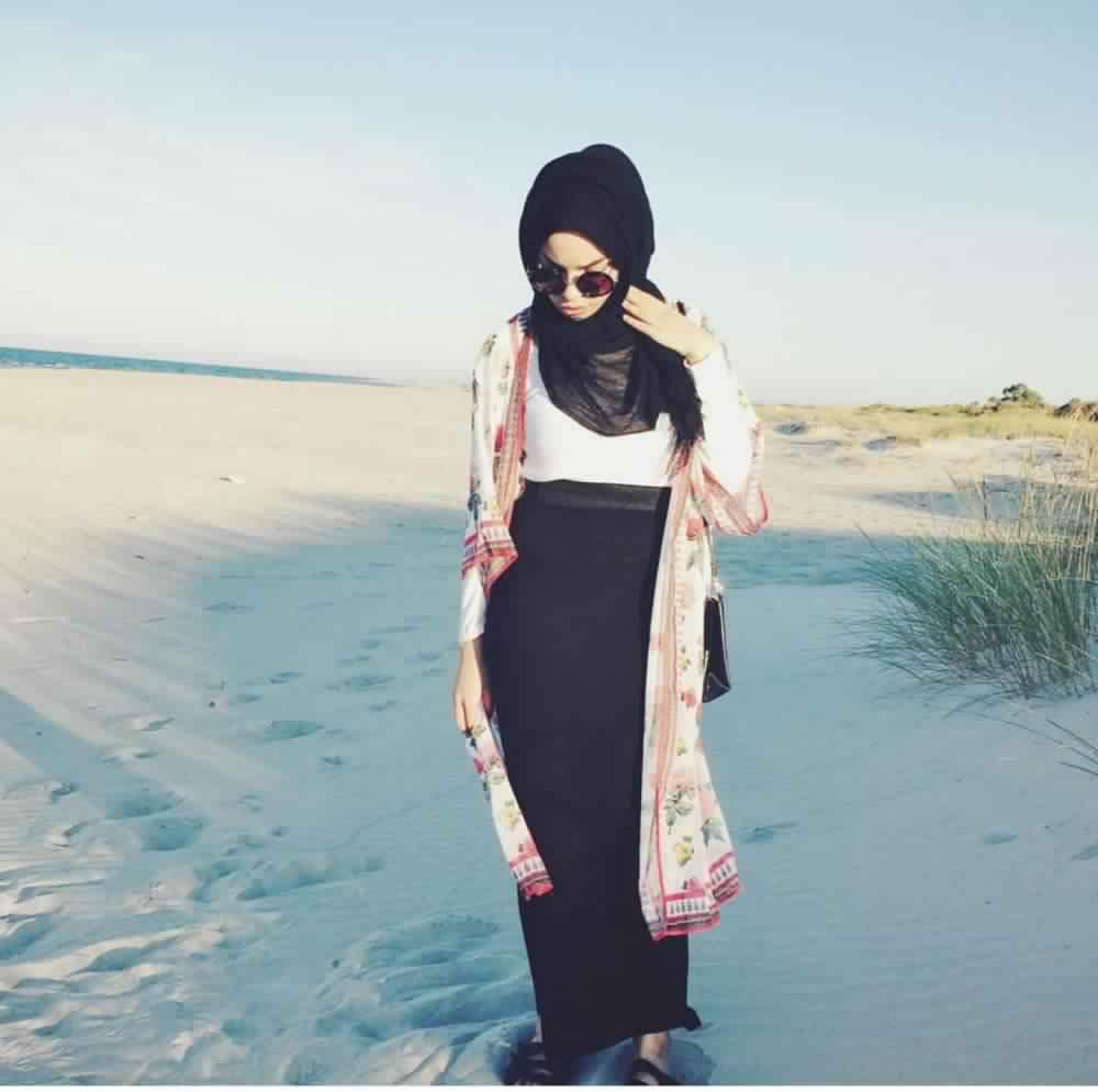 Jupe Longue Avec Hijab 1