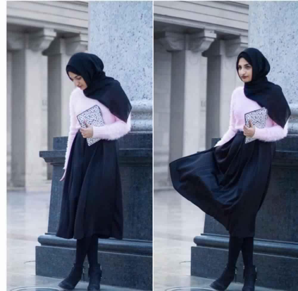 Jupe Longue Avec Hijab 11