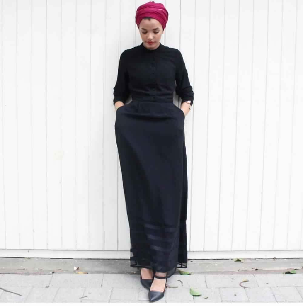 Jupe Longue Avec Hijab 14