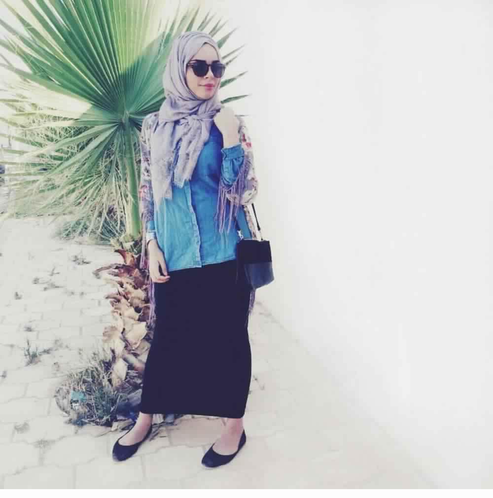 Jupe Longue Avec Hijab 2
