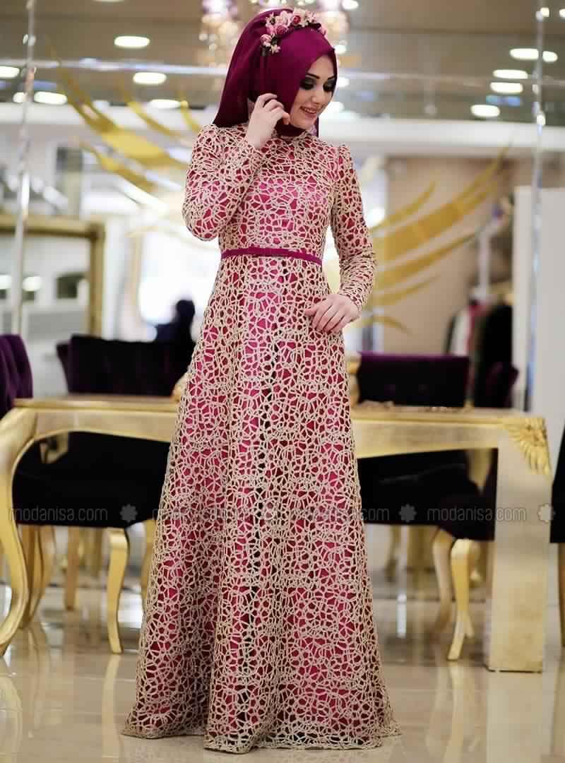 Robe De Soirée Femme Voilée2