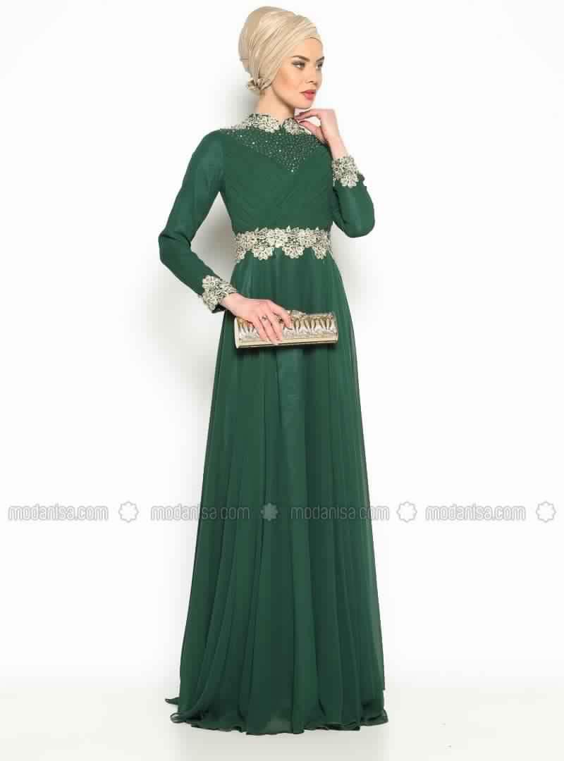 Robe soiree vert rotana