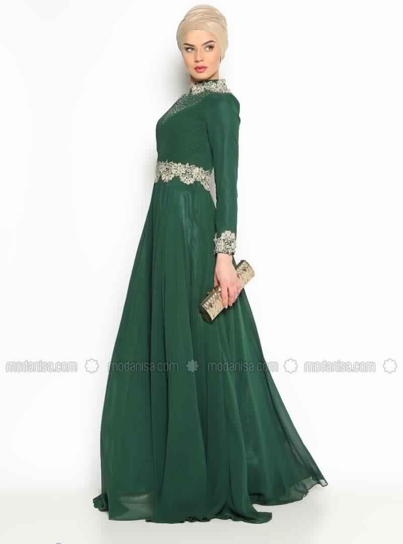 Robe De Soirée Verte3