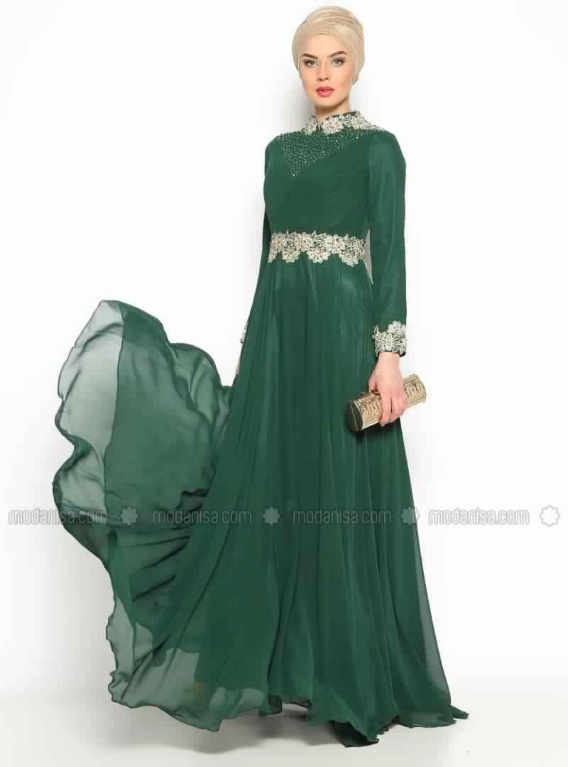 Robe De Soirée Verte4