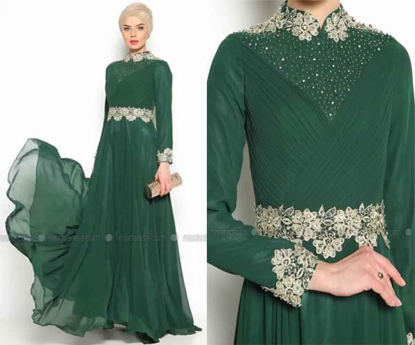 Affaire Pour De Une Bonne Femme Verte Robe Tendance Voilée Soirée PdaFqHxw