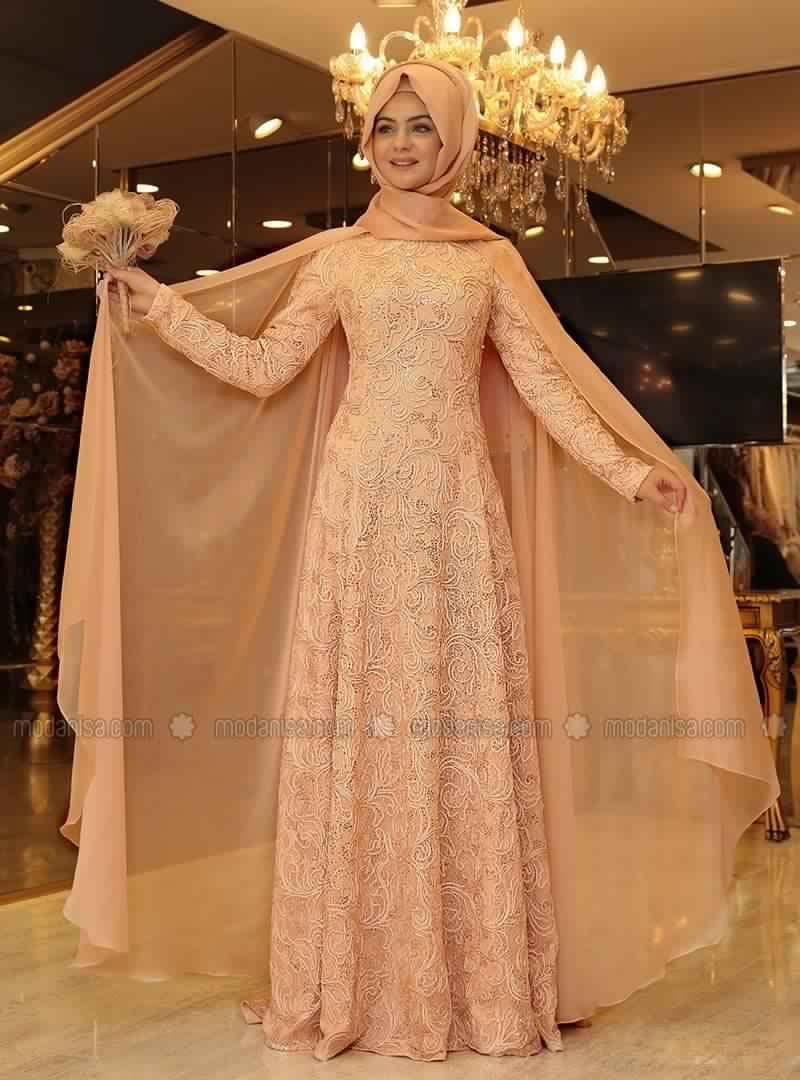 Modele robe de soiree femme voilee