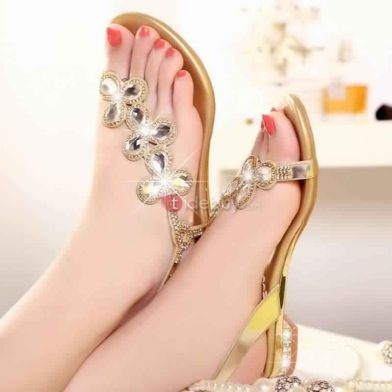 Sandales Plates Confortables10