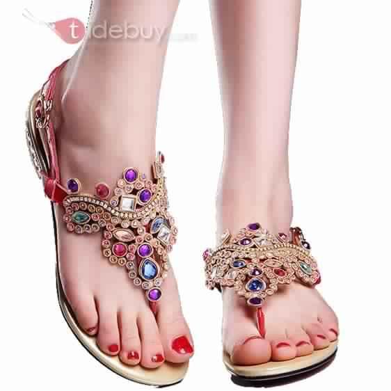 Sandales Plates Confortables12