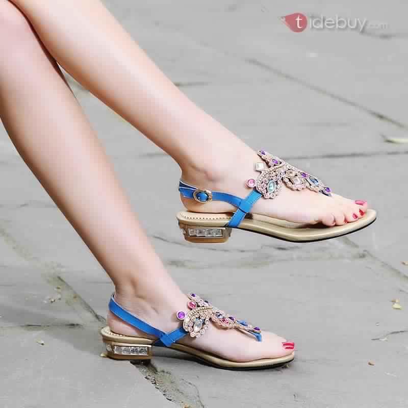 Sandales Plates Confortables13