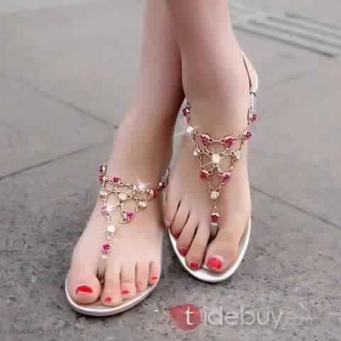 Sandales Plates Confortables23