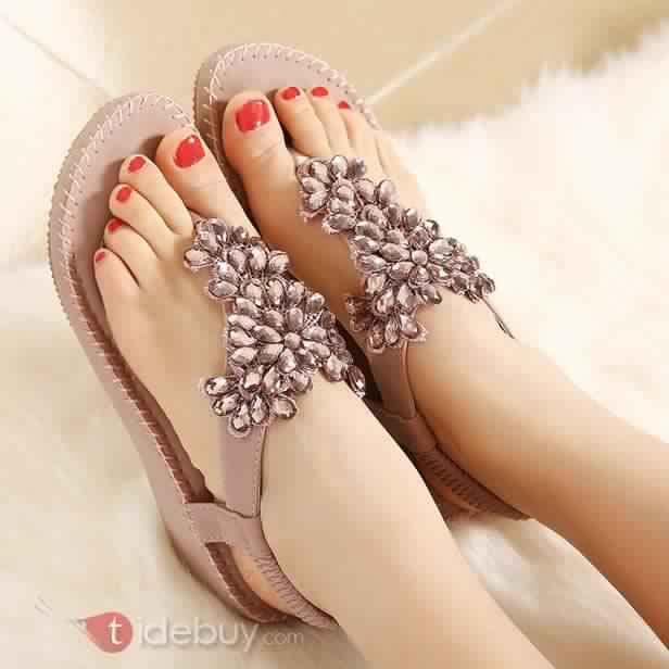 Sandales Plates Confortables25