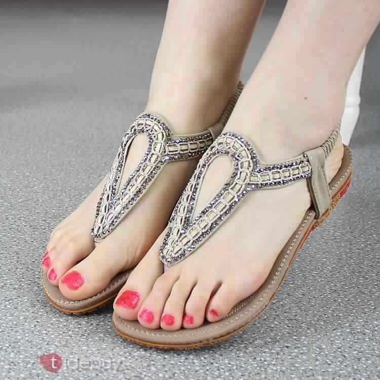 Sandales Plates Confortables26