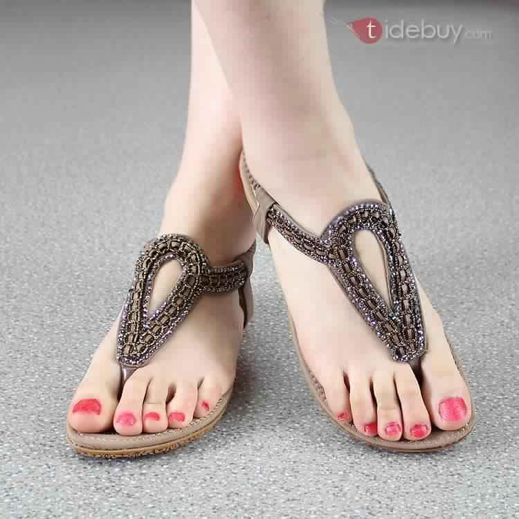 Sandales Plates Confortables27