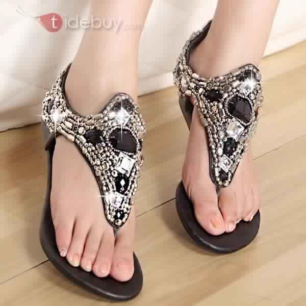 Sandales Plates Confortables29