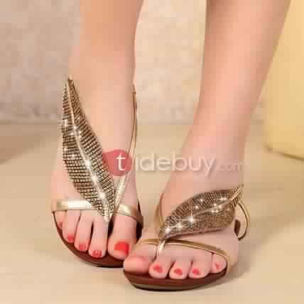 Sandales Plates Confortables31