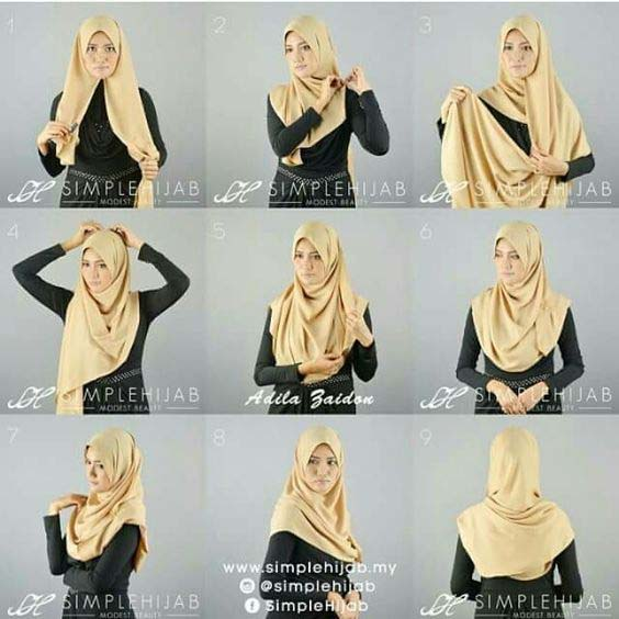 Tutoriels De Hijab Fashion 14