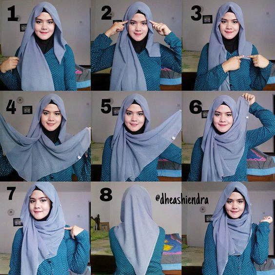 Tutoriels Faciles De Hijab Modernes11