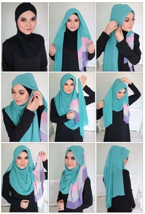 Tutoriels Faciles De Hijab Modernes14