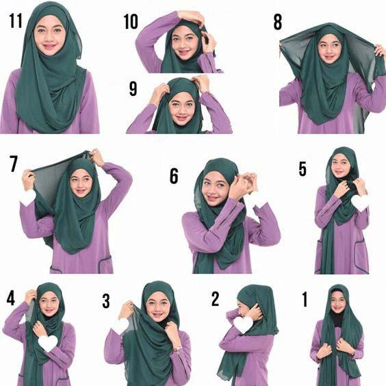 Tutoriels Faciles De Hijab Modernes15