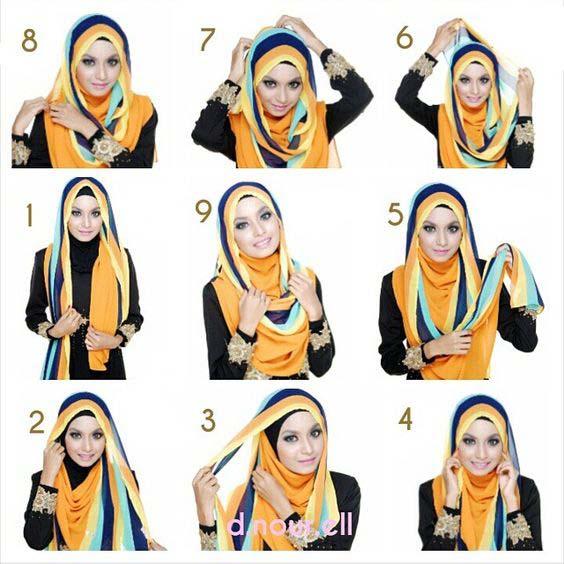 Tutoriels Faciles De Hijab Modernes16