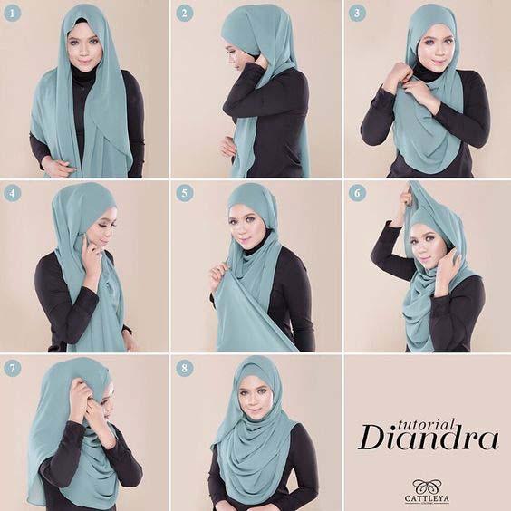 Tutoriels Faciles De Hijab Modernes19