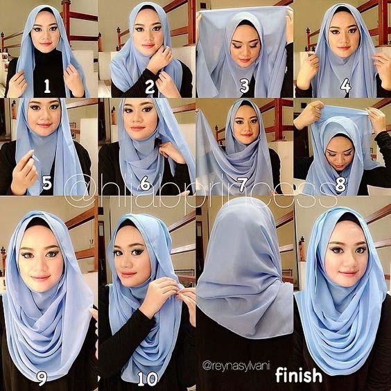 Tutoriels Faciles De Hijab Modernes21