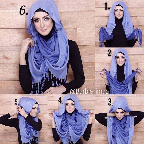 Tutoriels Faciles De Hijab Modernes5