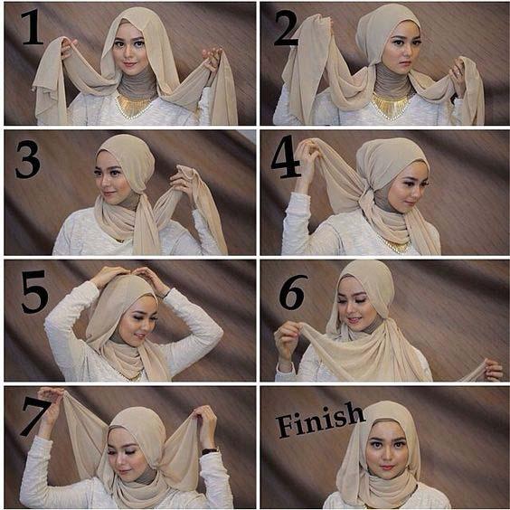 Tutoriels Faciles De Hijab Modernes6