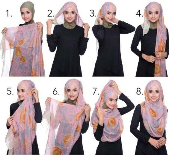 Tutoriels Faciles De Hijab Modernes7