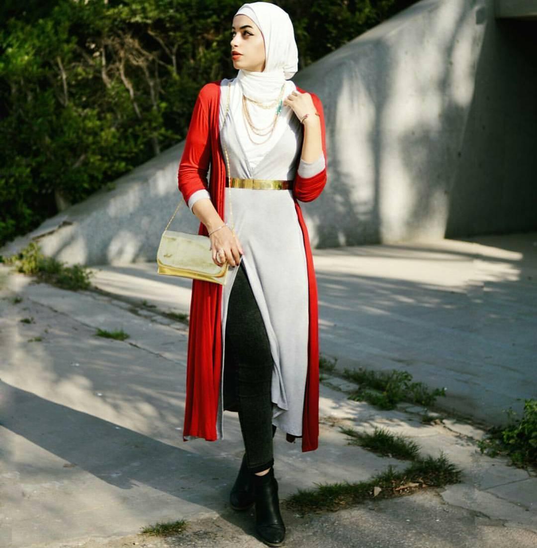 Une Tunique Longue avec un pantalon1